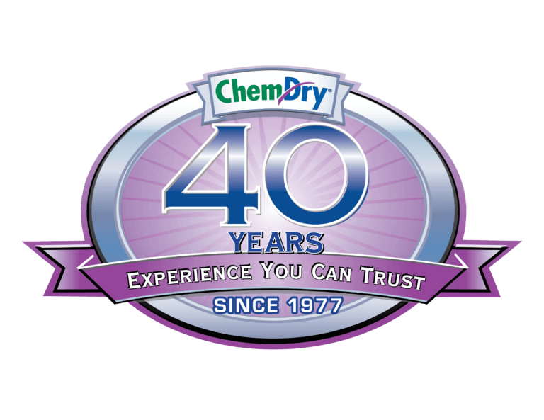 40 years of carpet cleaning experience badge