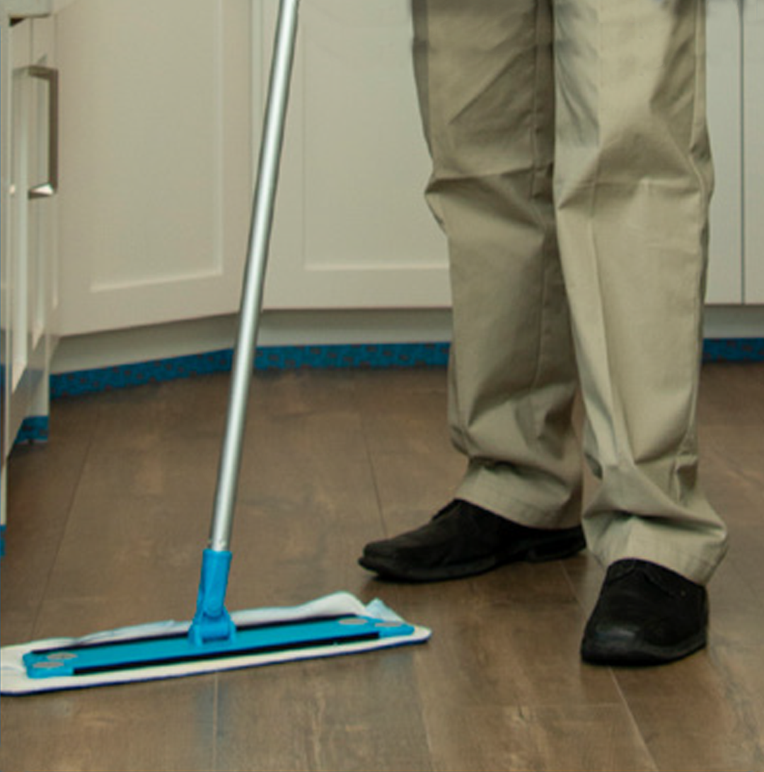 wood floor mopping