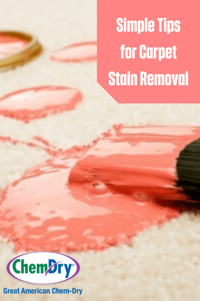 Carpet stained with paint