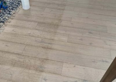 before and after wood floor cleaning in San Diego