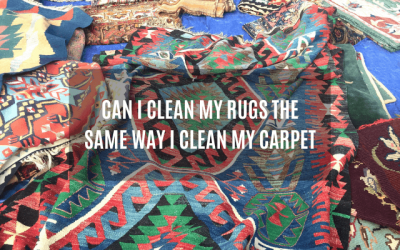 Can I Clean My Rugs the Same Way I Clean My Carpets?